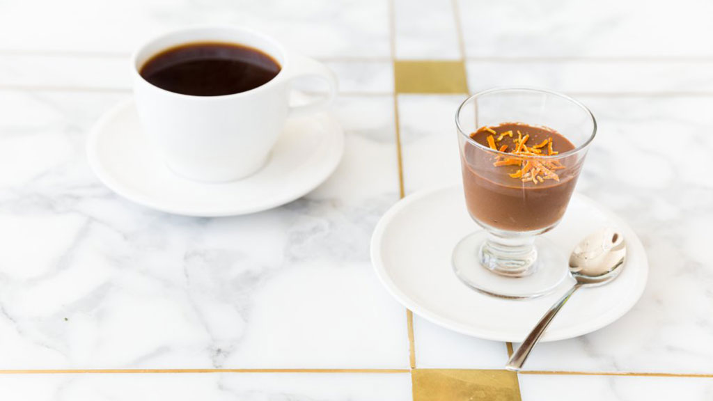 Coffee with crème du pot